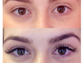 Natural lashes eyelash extension