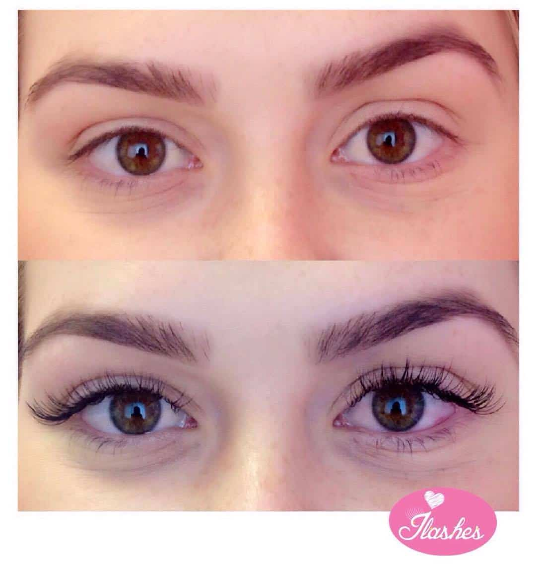 Natural lashes eyelash extension